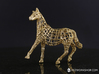 2014 Year of the Horse- Polished Gold 3d printed Gold Plated Year of the Horse