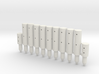 BP2-11, Round Cable Barrier Posts, 11 pcs 3d printed