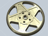 BUTTON CROMODORA WHEEL 20 mm 3d printed Button with the shape of a Ferrari 308 Cromodora whell