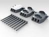 """1/700 16""""/45 MKI HMS Nelson Turrets 1940 3d printed 3d render showing set"""