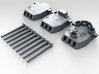 "1/700 16""/45 MKI HMS Nelson Turrets 1943 3d printed 3d render showing set"