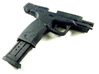 1:6 SWMP 9mm pistol 3d printed FUD painted black