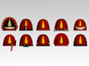 Blood Drop Embellished Shoulder Pads x10 3d printed Product is sold unpainted.