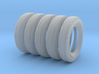 1/16 6.00 X 16 Dunlop Fort Tire SET2 3d printed