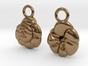 Ammonia tepida Earrings - Science Jewelry 3d printed