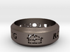 Rowland Contracting Ring with Logo 3d printed