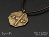 Pendant Newton's Third Law 3d printed Polished Bronze Steel