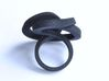 Ring Love is in the AIR Large 3d printed Smooth Large, elegant and sophisticated knot black ring