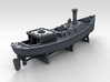 1/400 WW2 RN Boat Set 4 with Mounts 3d printed 45ft Admirals Barge