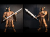 ACC-02-GreatSwords 7inch MOTU v2.3 3d printed White Strong and Flexible Polished material.
