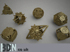 Swords and Shields D&D Dice set Decader 3d printed Full set available