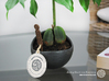 Porcelain Plant-pot in Golfball-Look (large round) 3d printed Porcelain Plant-pot in Golfball-Look (large round) - Matte Black