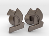 "Hebrew Monogram Cufflinks - ""Yud Bais"" 3d printed"