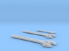 1:6 scale Crescent wrench 3 pack 3d printed