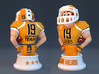 Mini football hero - version Orange 3d printed 3d rendered version