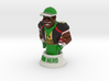 Mini football hero - version Black 3d printed Shapeways render Color Sandstone