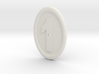 Oval Imitation Whistle-hole Number 1 Button 3d printed