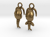 Copepod Earrings - Science Jewelry 3d printed