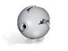 3D Printed Porcelain Block Island Ball Ornament 3 3d printed
