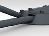 "1/700 RN 13.5"" MKV Guns HMS Queen Mary Moveable 3d printed 3d render showing moveable barrel"
