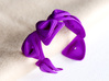 Rose Bracelet 3d printed rose bracelet in violet purple