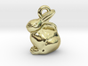 mini chocolate Easter bunny charm 3d printed