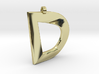 Distorted Letter D 3d printed