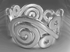 2 Spirals and Ovals -Closed version- Size17 3d printed 2 Spirals and Ovals -Closed version- Size17 - SILVER