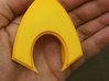 Aquaman Belt Buckle 3d printed Yellow Plastic