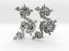 Seahorse Dragon Earrings - Kleinian Fractal 3d printed