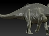 1/72 Amargasaurus - Neck Down 3d printed Zbrush Render of final sculpt
