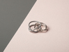 rollercoaster - internal ring 3d printed pictured material: polished silver and raw aluminium