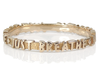 Just Breathe Ring (Multiple Sizes) 3d printed Just Breathe Ring in Polished Bronze