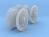 1-24 Chevy LRDG Rims FUD Set4 3d printed