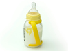 Bottle Handles for Medela 3d printed Handles are 15 degrees off axis to keep the milk in the nipple during feeding.