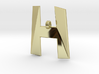 Distorted letter H 3d printed