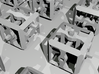 3D Jigsaw Puzzle 3d printed Close-up of pieces, as rendered in Blender.