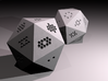 d20 Hexagon Pips 3d printed As rendered in Blender.