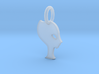 Pendentif Princess Alien (extra small) 3d printed