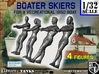 1-32 Recreation Boat Skiers Set 3 3d printed