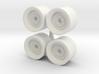 1/64 Wheel loader wheels 3d printed