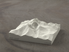 4'' Longs Peak, Colorado, USA, Sandstone 3d printed Radiance rendering of Longs Peak from the East
