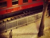 Staccionata Fence 15.7 cm Italian FS N Scale 1:160 3d printed Fence of the Italian Railways FS