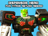 Dewbot/Dispensor Head for Titans Return Rewind 3d printed V1 head, hand painted high-def acrylate