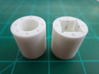 """Bussard Dome Assembly - 1:650 - For DLM Parts - 03 3d printed Two printed parts in """"Strong and Flexible"""" white polished plastic."""