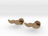 Moustache Cufflinks 3d printed