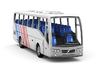 Volvo 9700 bus in Z scale 1:220 3d printed 3D rendered preview with sample color scheme