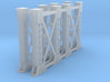 Two Steel Bridge Supports Z Scale 3d printed Two Steel bridge supports Z scale