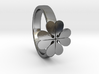 """Ring """"Four-leafed Clover"""" 3d printed"""