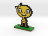 Undertale Monster Kid Pixel Art 3d printed